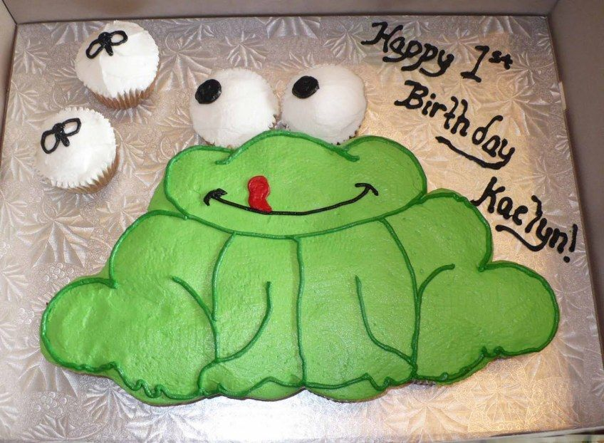 Frog Cupcake Cake Birthday Cake Ideas With Images Frog Cakes