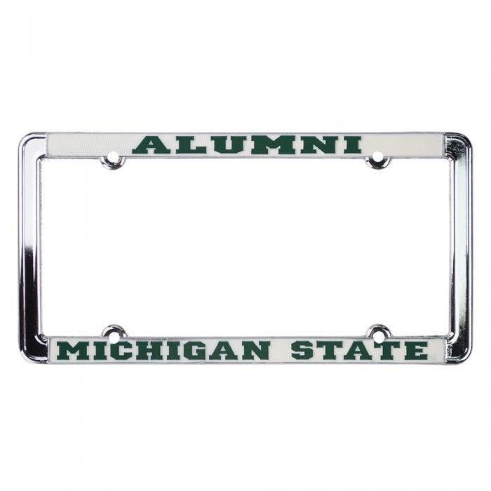 Michigan State University Alumni License Plate Frame At Campus Den ...