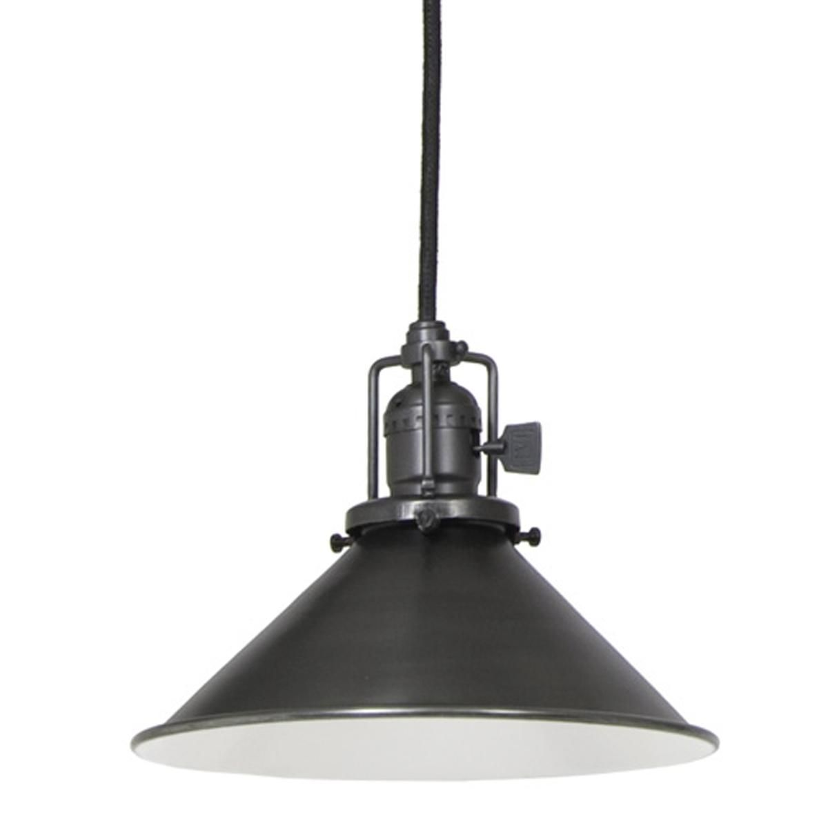 Kitchen Pendant Lighting Glass Shades Cone Shade Industrial Pendant Gunmetal Two Over The Sink