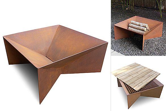 geometric fire pit moddea jardins pinterest brasero ext rieur et jardins. Black Bedroom Furniture Sets. Home Design Ideas