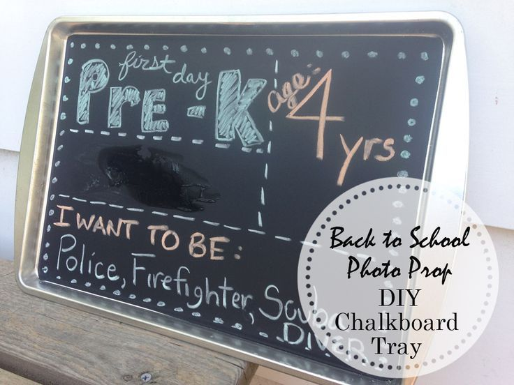 Diy chalkboard sign for back to school photo prop amy