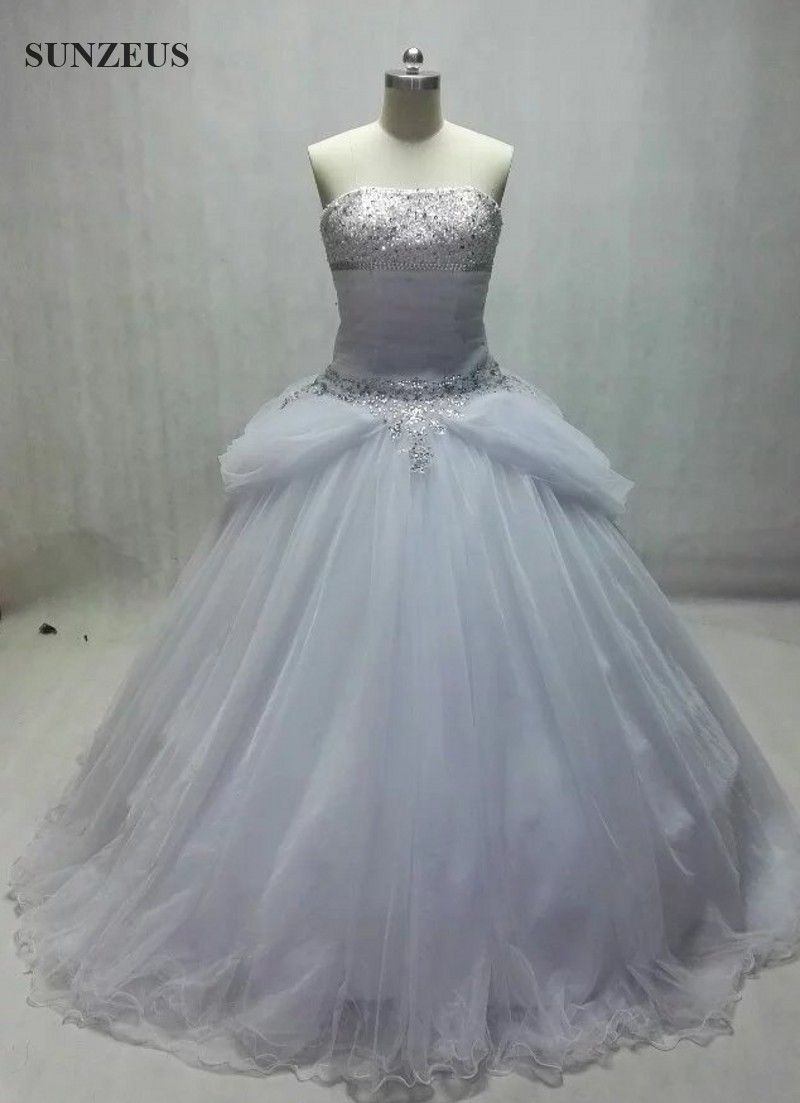Sequined wedding dress  real wdding dress  ball gown bridal dress  sequins beaded wedding