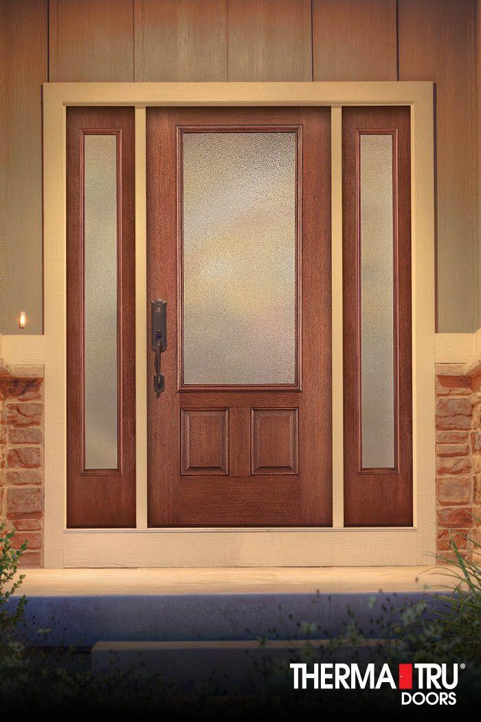 Therma tru fiber classic mahogany collection door with for Therma tru fiber classic mahogany price