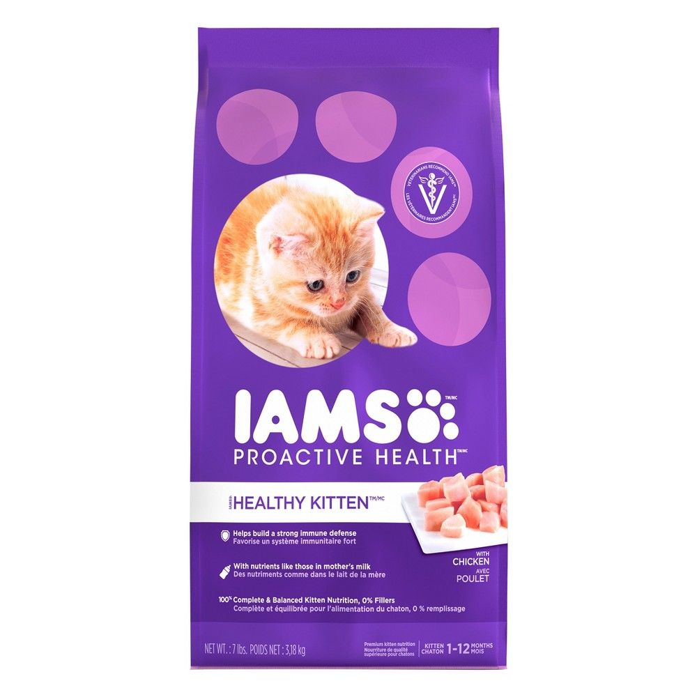 Iams Proactive Health With Chicken Kitten Premium Dry Cat Food 7lbs Kitten Food Dry Cat Food Dry Dog Food
