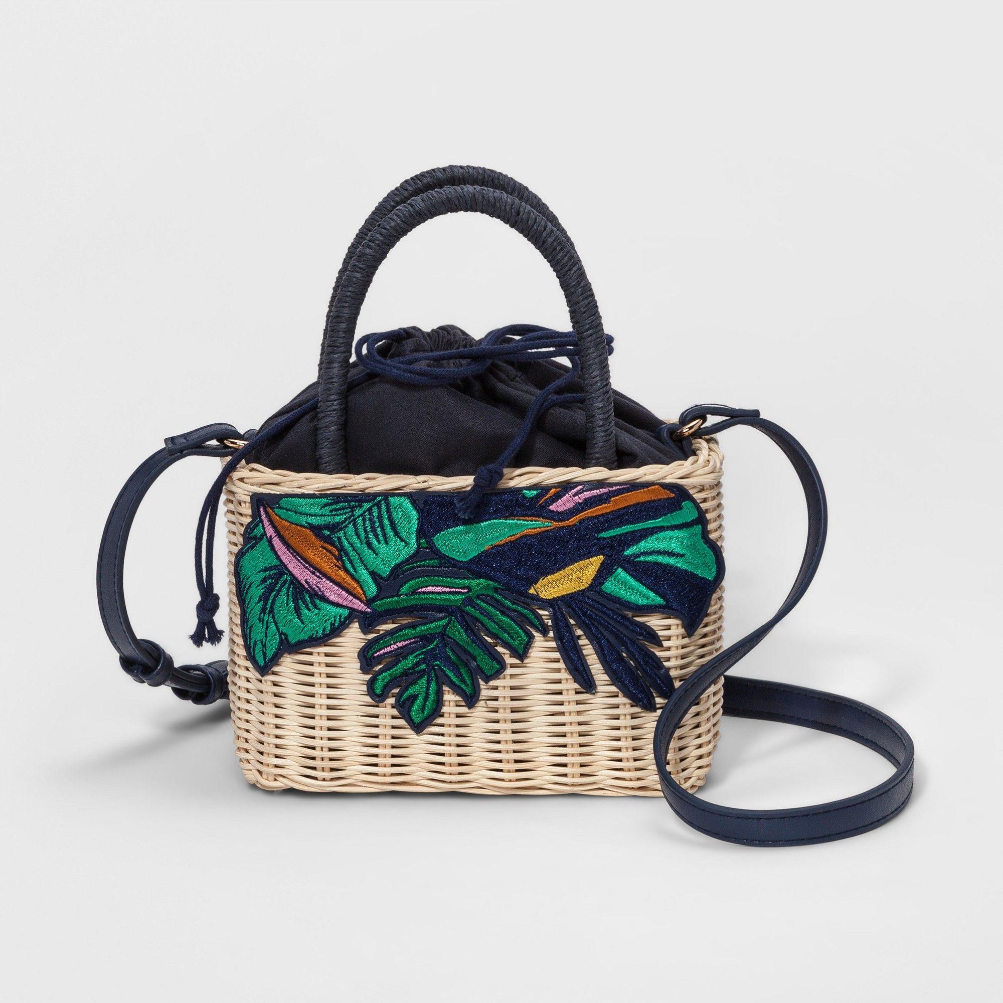 8a1138d045 Basket Crossbody Bag - A New Day Natural