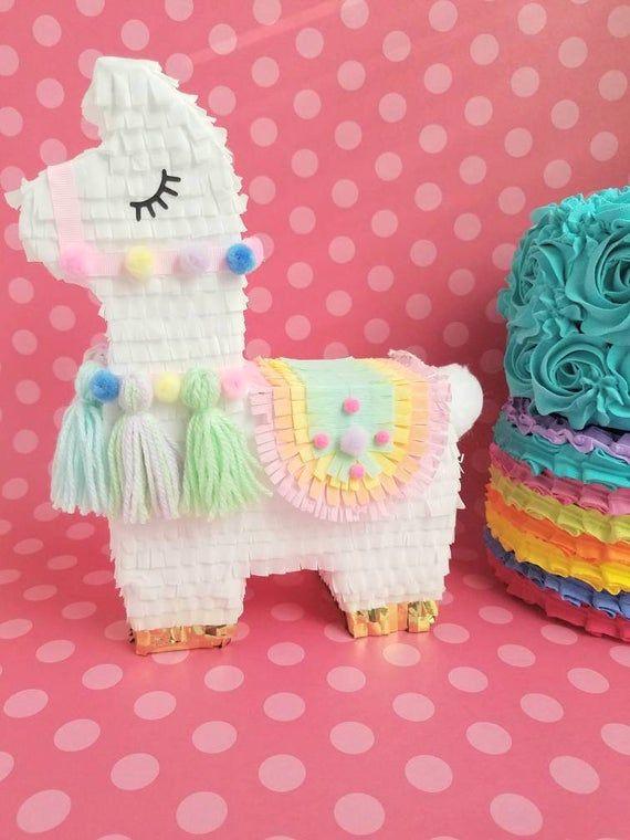 Una pieza central de 11″ Llama piñata, fiesta de llama, decoración de cumpleaños llama, fiesta de despedida de soltera llama, ducha de bebé llama, fiesta de alpaca
