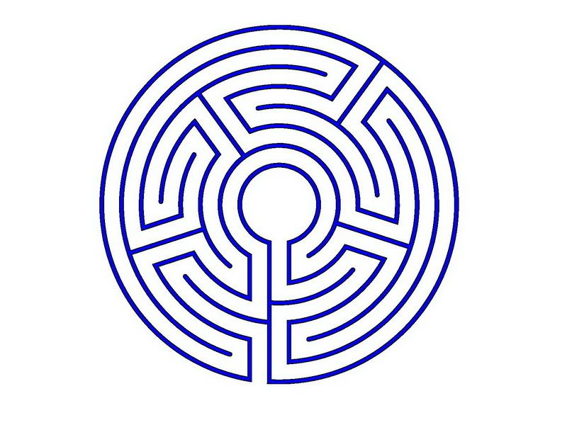 Labyrinth Designs Easy | simple labyrinth | Reference - Mazes ...
