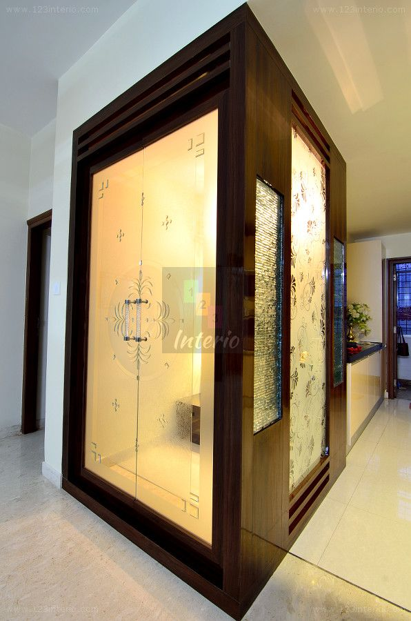 10 Pooja Room Door Designs That Beautify Your Mandir Entrance: 123Interio: Project: Mrs Navneetha Reddy, Part 2