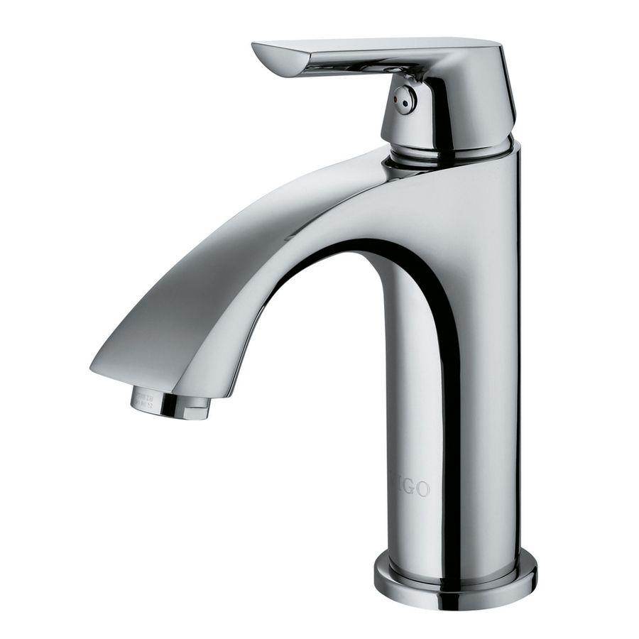 Shop VIGO Chrome 1-Handle Single Hole WaterSense Bathroom Sink ...