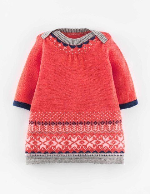 Fair Isle Knitted Dress 71454 Dresses at Boden | Baby Girl ...