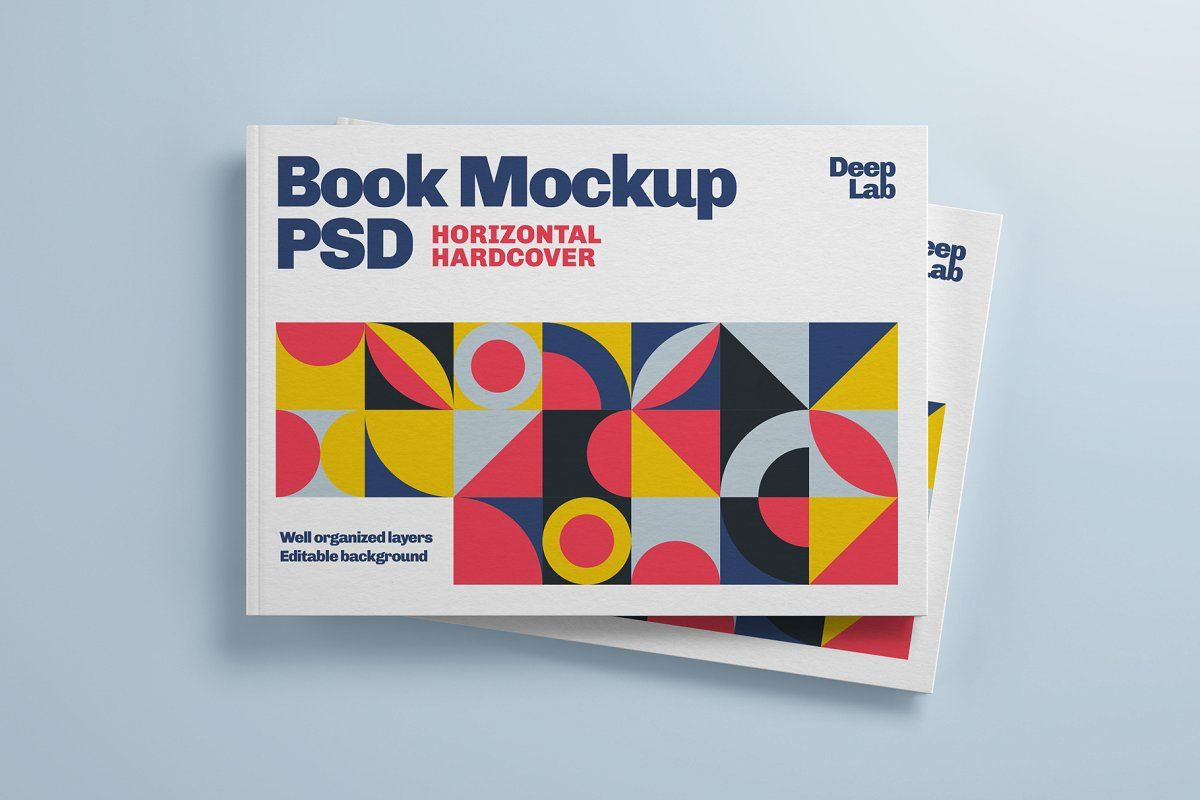 Download Horizontal Book Cover Mockup Set In 2020 Book Cover Mockup Book Cover Book Texture PSD Mockup Templates