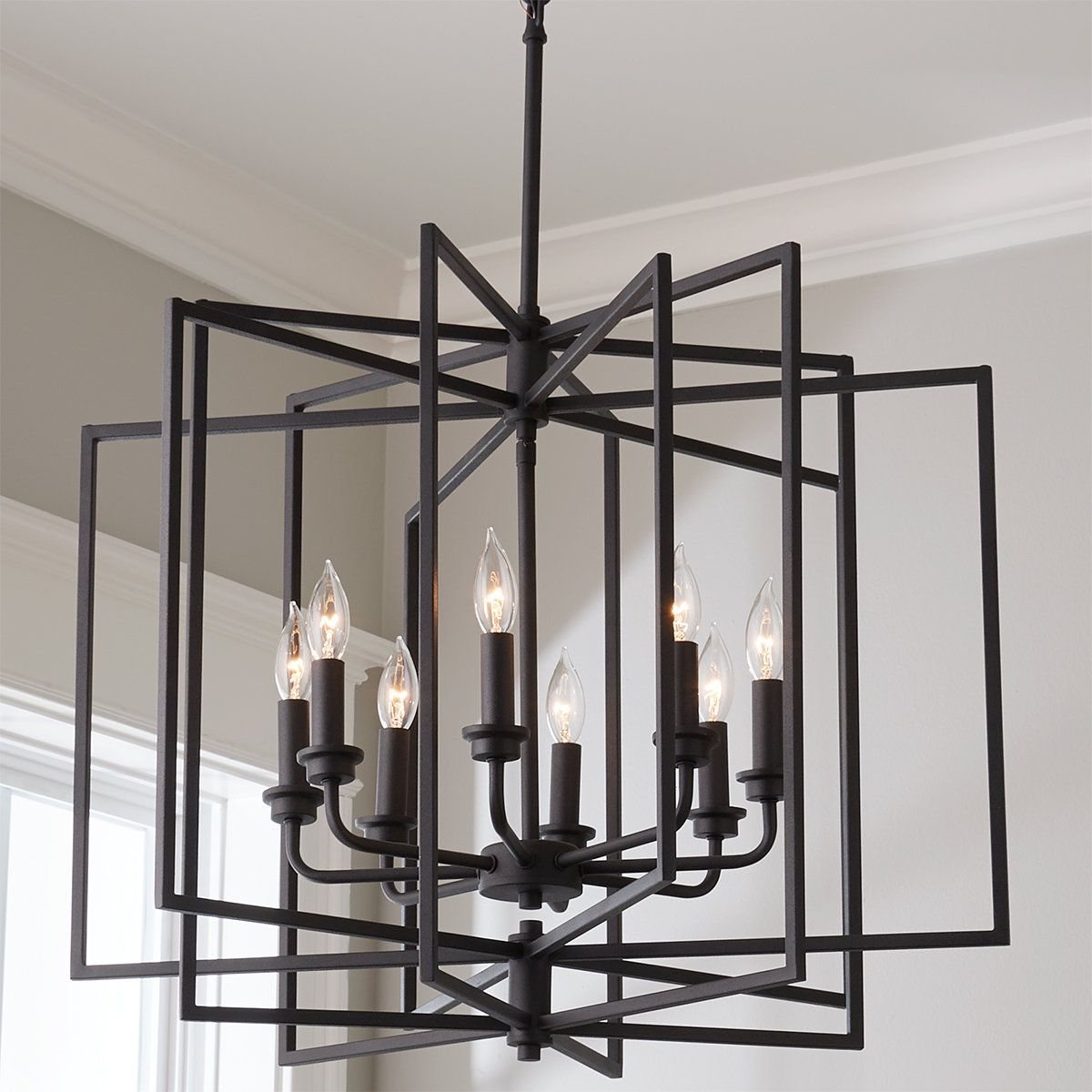 Crystorama Lighting Group Weston Matte Black And Antique Gold 14 Inch Four Light Pendant Wes 9905 Bk Ga Black Pendant Light Kitchen Lantern Pendant Lighting Lights Over Kitchen Island
