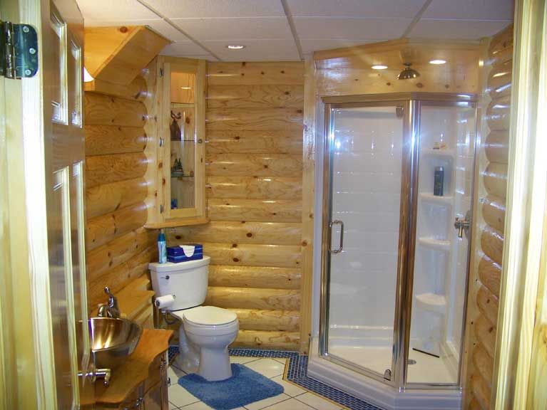 Log cabin bathroom ideas top five man cave necessities for Log home bathroom ideas