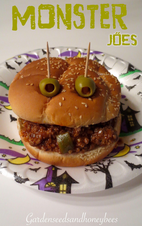 Monster Sloppy Joes   Sloppy joe and Monsters