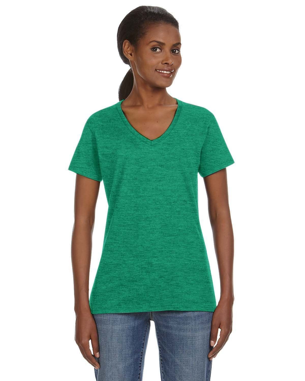 Anvil Lightweight V Neck T Shirt 88vl Heather Green Products V