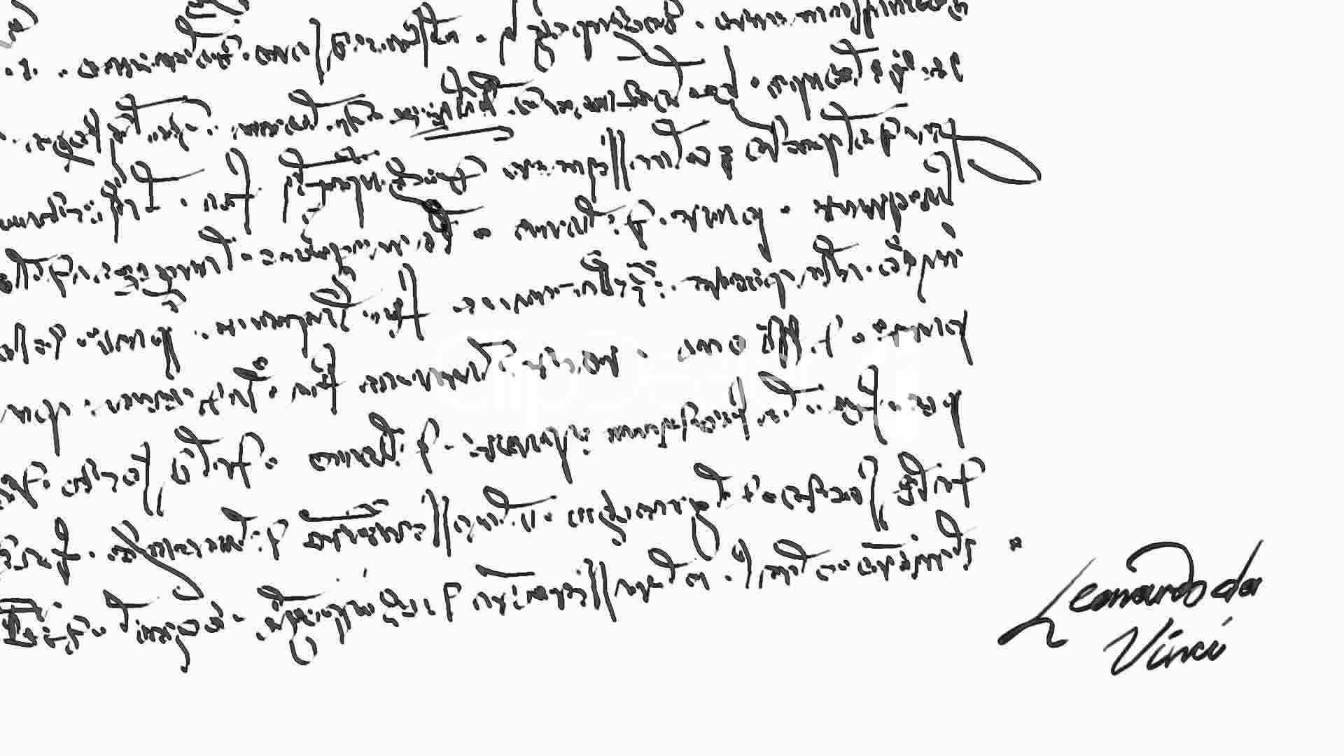 Los tipos de letra y c digos en la obra de leonardo da vinci for Mirror writing