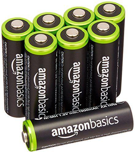 Amazonbasics Aa Rechargeable Batteries 8 Pack Pre Charged Packaging May Vary Rechargeable Batteries Charge Battery Batteries