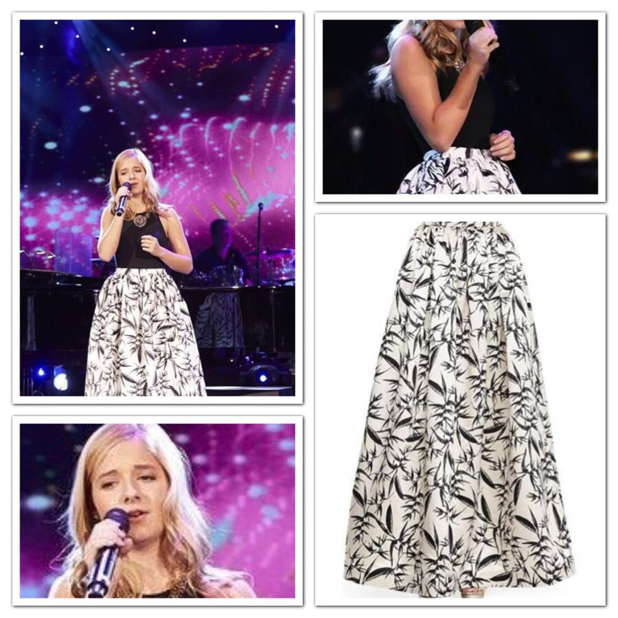 Dresses worn by Jackie Evancho: Alice+Olivia Ball gown skirt ...