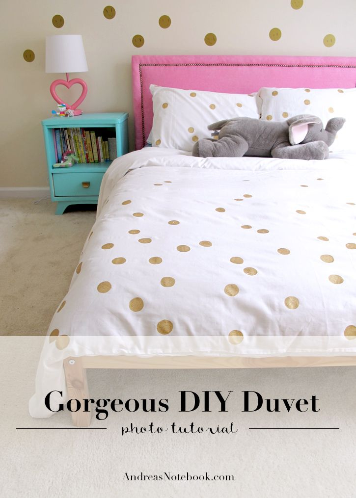 make this gorgeous and easy duvet cover diy pillows and co pinterest couvre lit. Black Bedroom Furniture Sets. Home Design Ideas