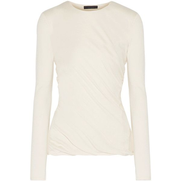The Row Abinah draped cashmere sweater ($1,830) ❤ liked on ...