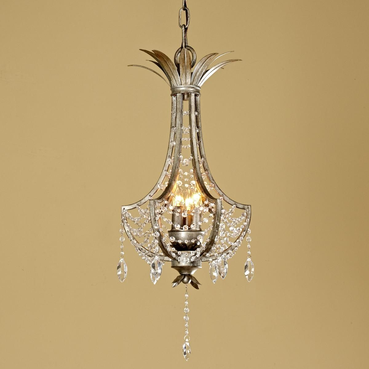 Shades Of Light Crystal Basket Mini Lantern 3 Light Use 2 For Foyer Chandeliers I Don T Love The Long Drop At