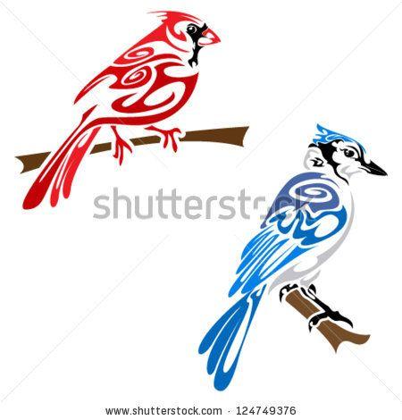 Cardinal Sitting on a Branch Silhouette | Birds ...  |Cardinal Silhouette Tattoo