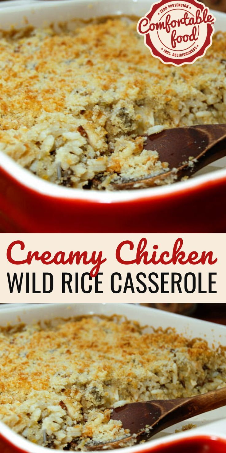 Creamy Chicken, Mushroom and Wild Rice Casserole