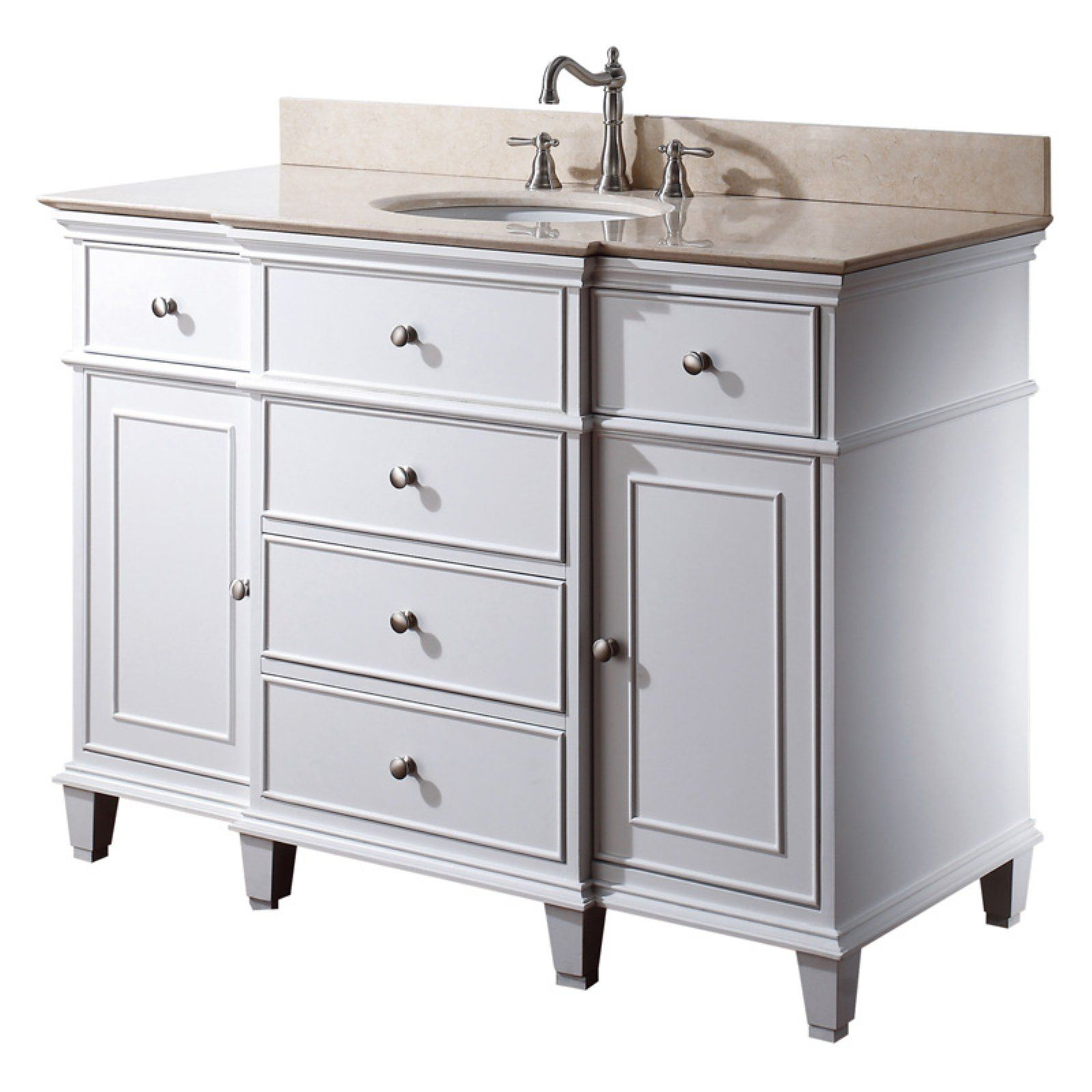 Avanity Windsor V48 Wt Windsor 48 In Single Bathroom Vanity