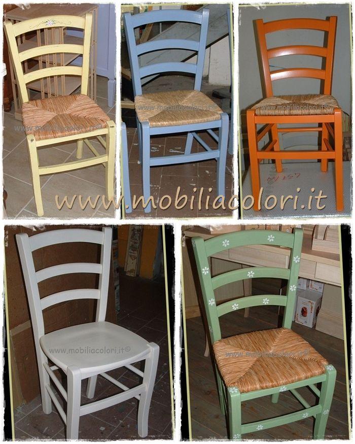 Vendita Sedie In Legno Impagliate.Sedie Colorate Idee Per Decorare La Casa Sedie Decorate