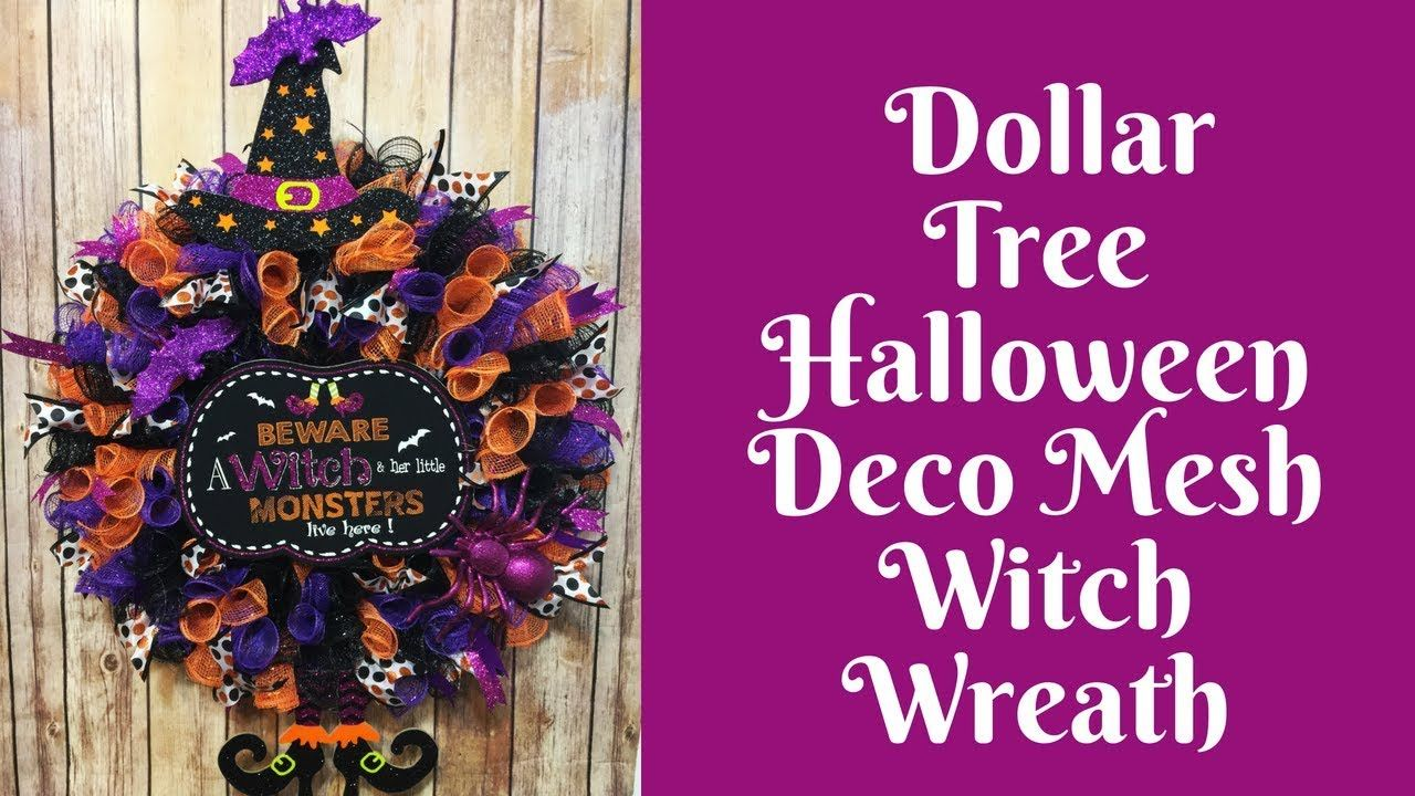 Halloween Crafts Dollar Tree Halloween Wreath YouTube