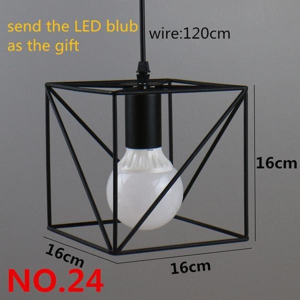 Retro Indoor Lighting Vintage Pendant Light Led Iron Cage Lampshade Vintage Pendant Lighting Pendant Light Fixtures Lamp