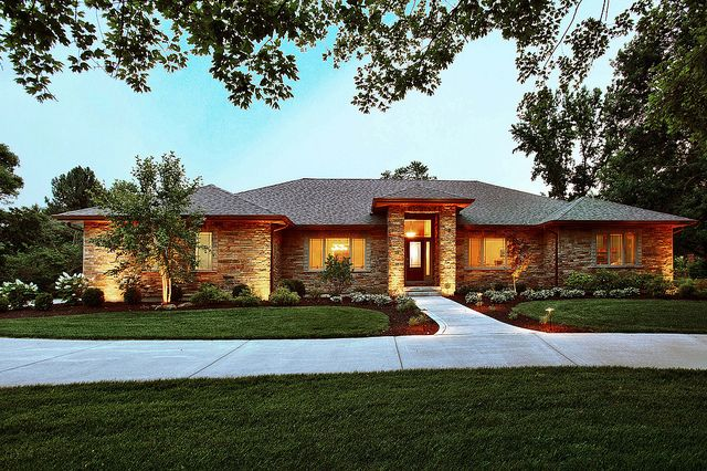 prairie style ranch homes chesterfield ranch with images prairie style houses ranch style homes ranch house plans 2128