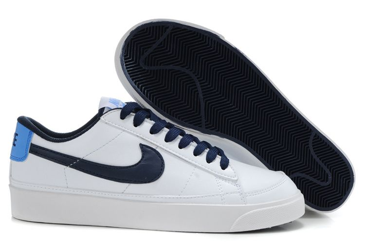 ... this nike blazer low 09 nd leather men shoes white navy shoes outlet  sale5 ...