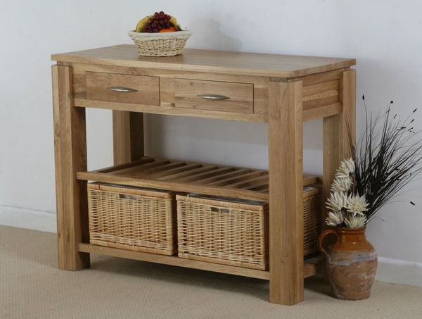 galway natural solid oak storage console table  oak