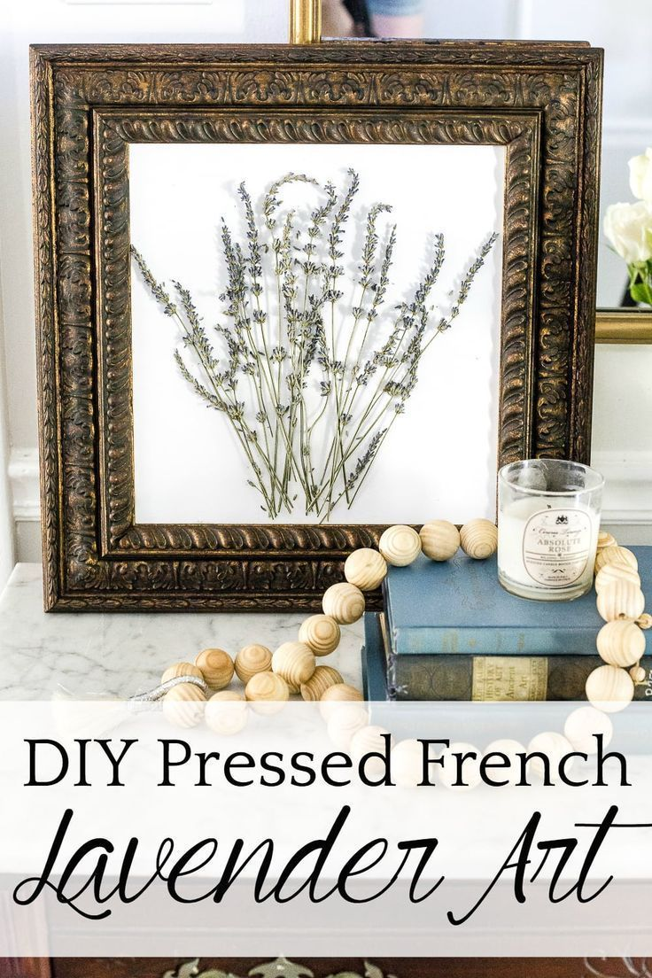 Pressed Lavender Art and French Vintage Decor