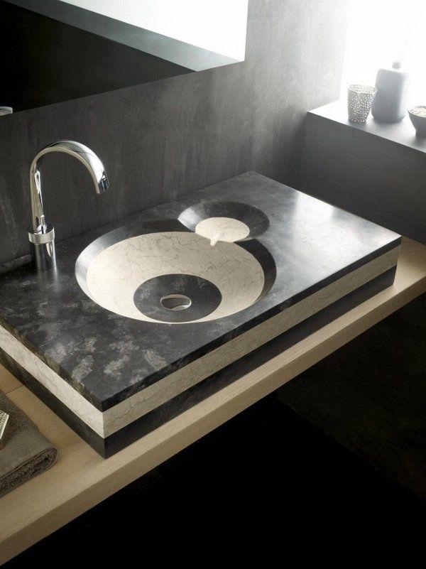 Modern Bathroom Sinks Ideas Natural Stone Gray Cream Colors Extraordinary Bathroom Sinks Ideas