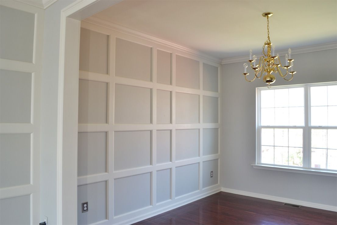 Board And Batten Accent Wall What If We Put Starry Murals Inside Some Of The Squares As Windows Home Home Remodeling Wall Boards Panels
