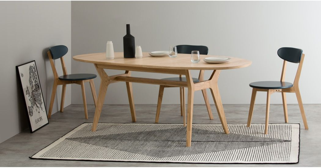 Made Light Wood Dining Table