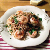 Brown Butter Pasta with Shrimp