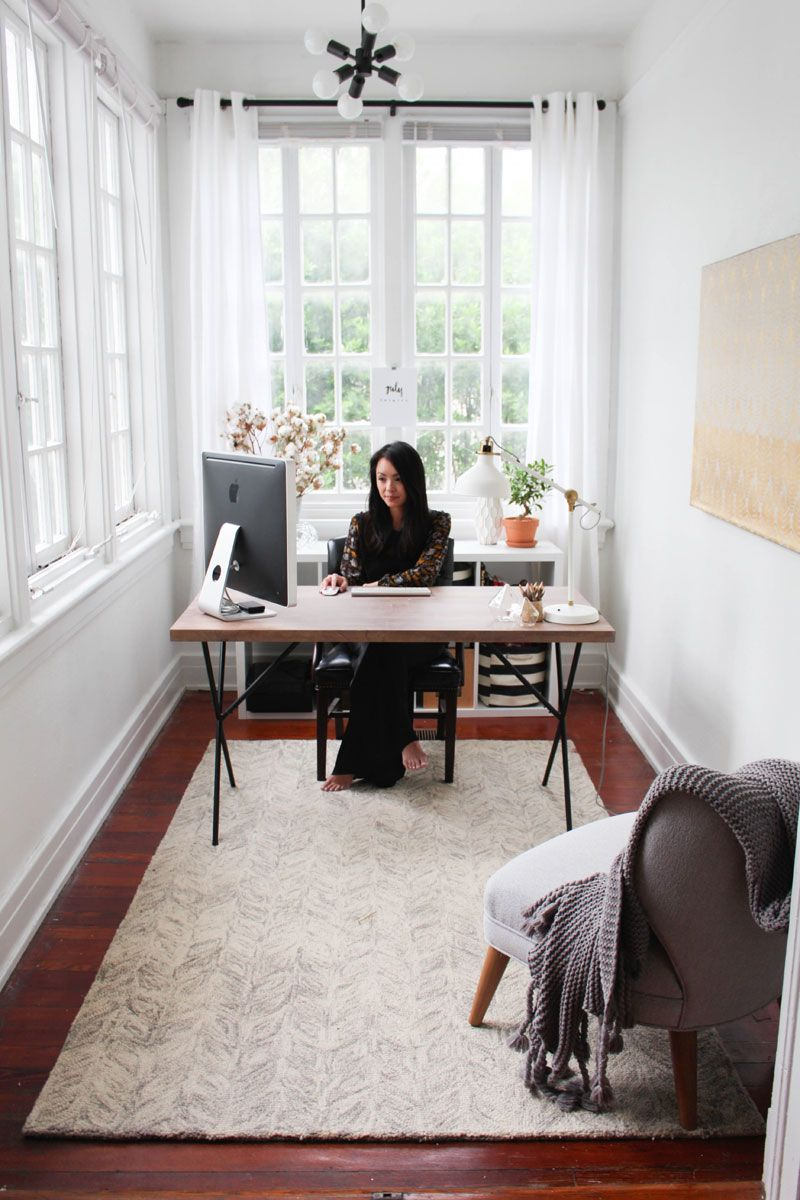 The Everygirl Food Editor And Creative Consultant Juley Le The Everygirl Home Office Design Home Office Space Home Office Decor