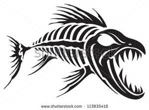 tribal fish skeleton tattoo designs yahoo image search results rh pinterest com tribal fish tattoos designs tattoo tribal jellyfish