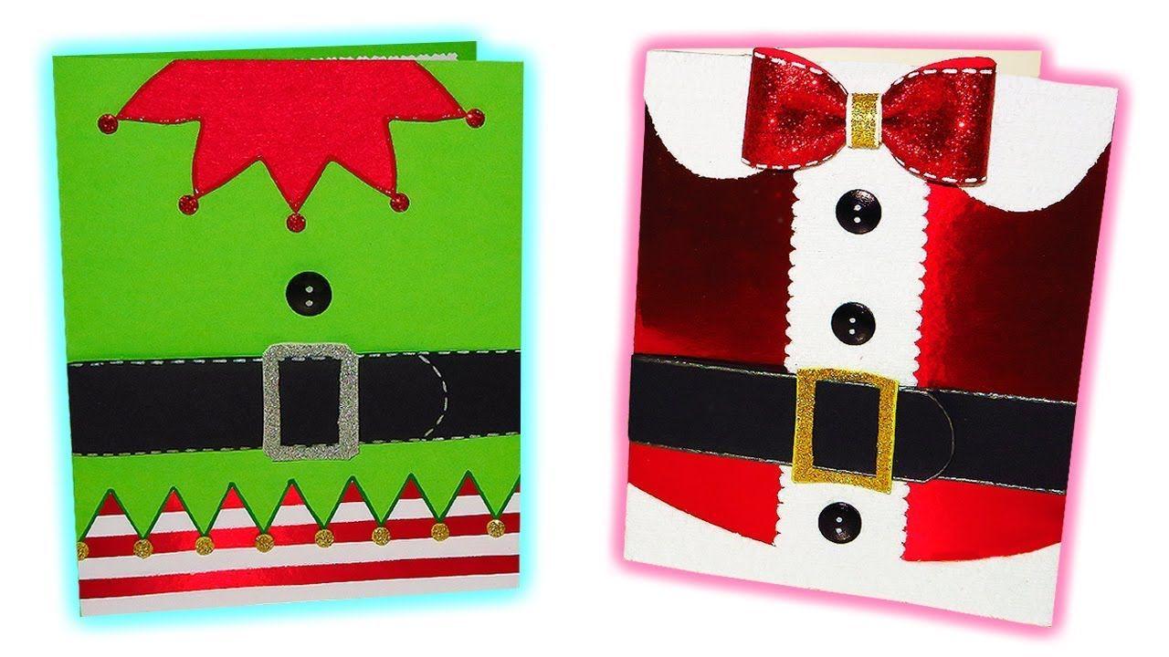 Diy postales o tarjetas navide as originales f ciles y - Tarjetas de navidad originales ...
