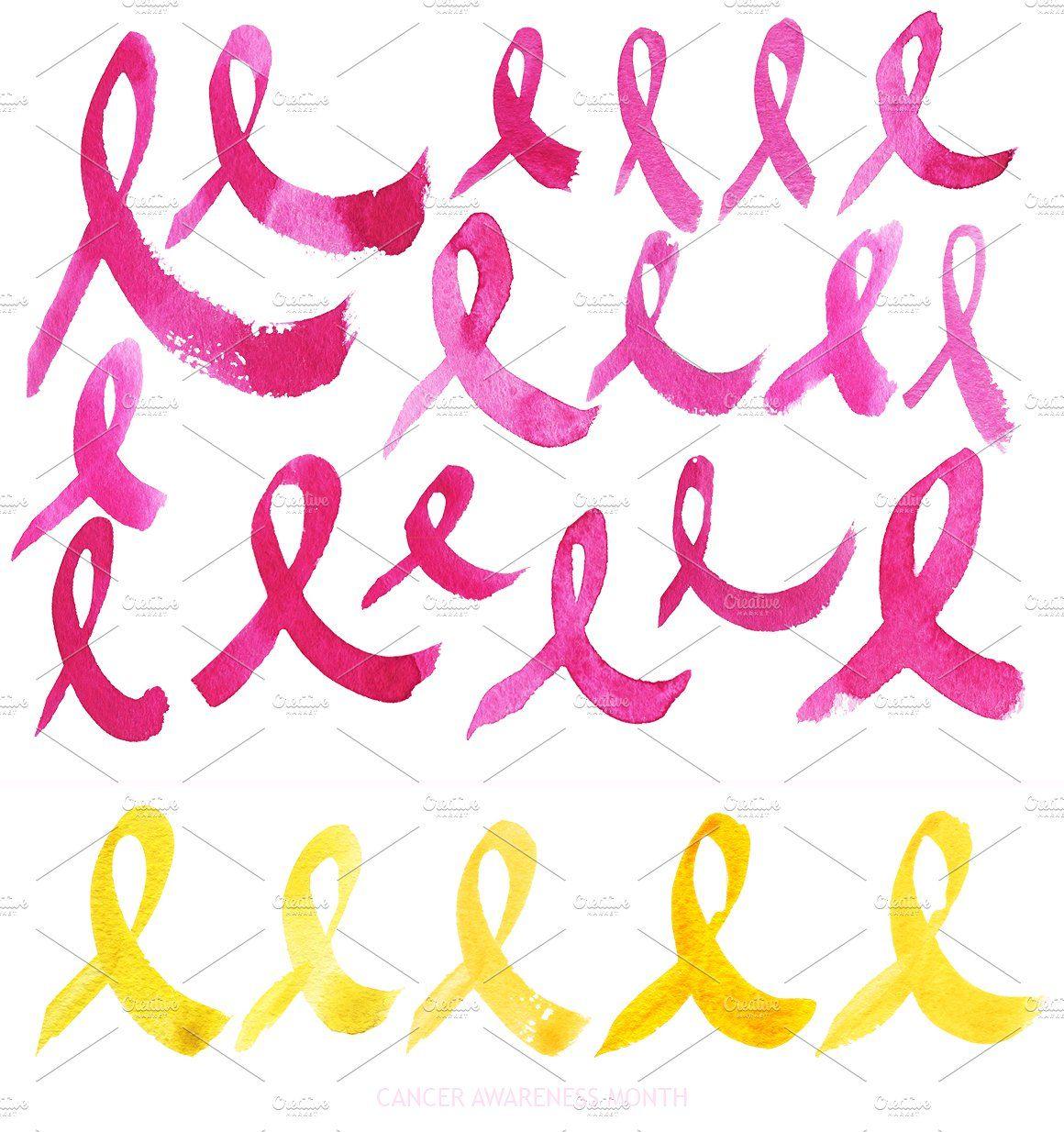 Vector Watercolor Ribbons Cancer Ribbon Png Awareness Ribbons