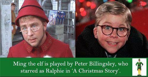 TIL that Ming the elf in 'Elf' is played by Peter Billingsley, who starred as Ralphie in 'A ...