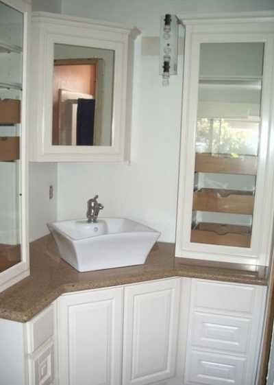 Bathroom Vanity Corner White Vanities Shelf Unit Oak Hanging