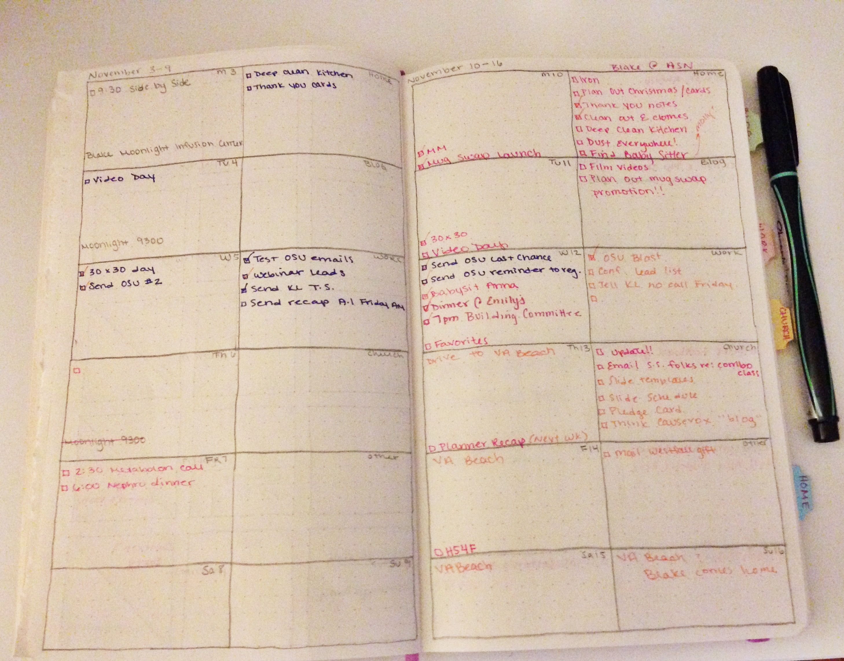 New Weekly Planner Layout for the DIY Moleskine Planner Hack | at ...