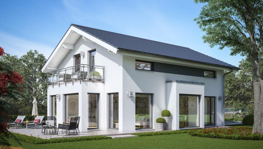 Hausbau modern satteldach  Bildergebnis für balkon satteldach | Hausbau | Pinterest ...