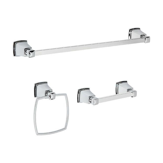 Moen Boardwalk 3 Piece Bathroom Accessory Set Chrome