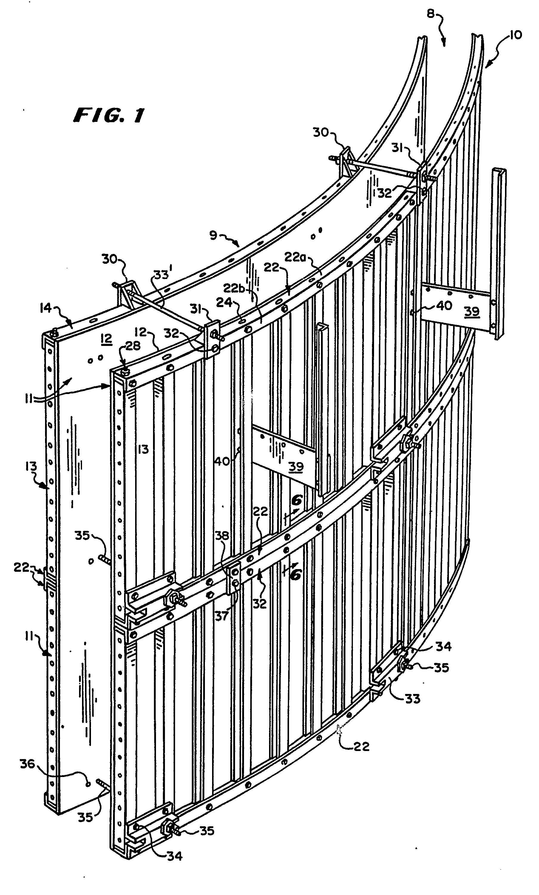 Concrete Form For Curved Wall