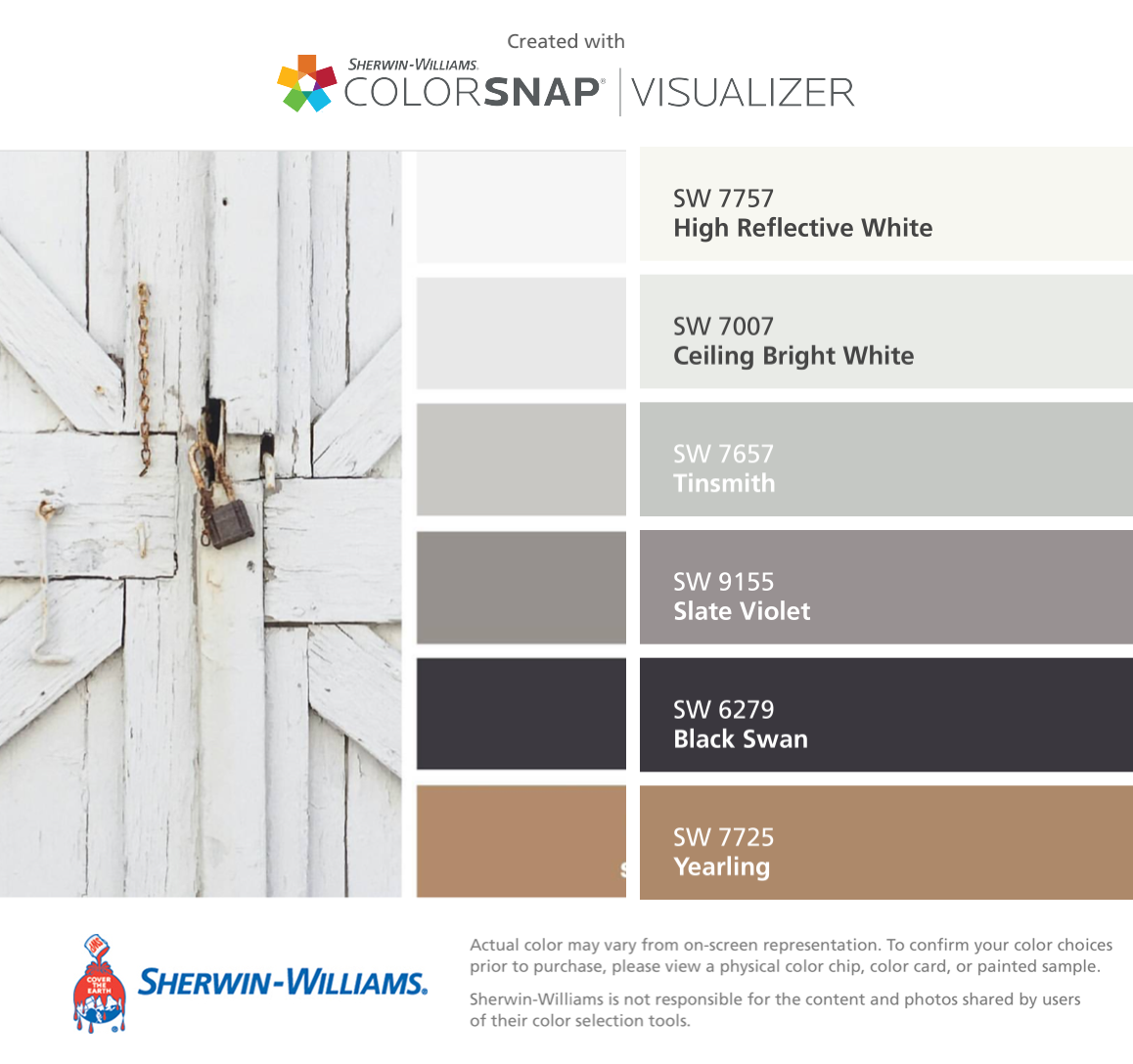 I Found These Colors With Colorsnap Visualizer For Iphone By Sherwin Williams High Reflective White Sw 7757 Ceiling B Room Color Schemes Room Colors Color